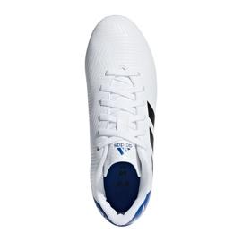 Buty piłkarskie adidas Nemeziz Messi 18.4 Fg Jr DB2369 białe wielokolorowe 1