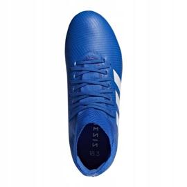 Buty piłkarskie adidas Nemeziz 18.3 Fg Jr DB2351 niebieskie wielokolorowe 1