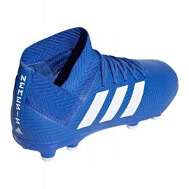 Buty piłkarskie adidas Nemeziz 18.3 Fg Jr DB2351 niebieskie wielokolorowe 2