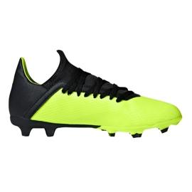 Buty piłkarskie adidas X 18.3 Fg Jr DB2418 zielone wielokolorowe 1