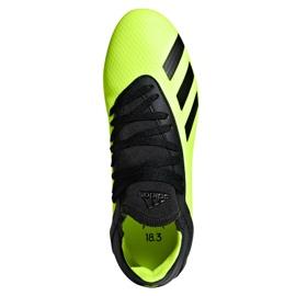 Buty piłkarskie adidas X 18.3 Fg Jr DB2418 zielone wielokolorowe 2
