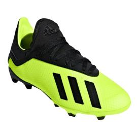 Buty piłkarskie adidas X 18.3 Fg Jr DB2418 zielone wielokolorowe 3