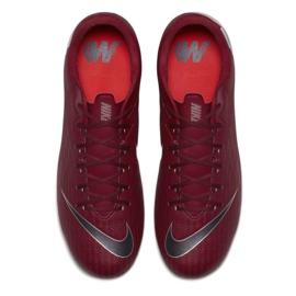 Buty piłkarskie Nike Mercurial Vapor 12 Academy Fg M AH7375-606 czerwone czerwone 8