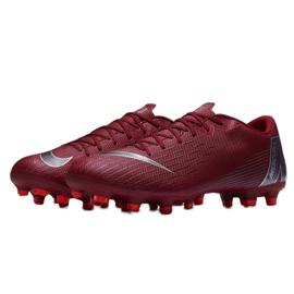 Buty piłkarskie Nike Mercurial Vapor 12 Academy Fg M AH7375-606 czerwone czerwone 10