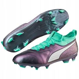 Buty piłkarskie Puma One 3 Il Lth Fg Color Shift-Bi M 104928 01 wielokolorowe wielokolorowe 3