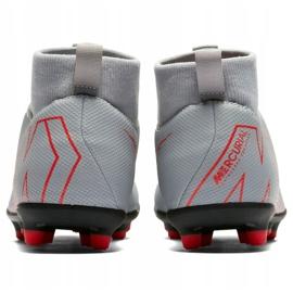 Buty piłkarskie Nike Mercurial Superfly 6 Club Mg Jr AH7339 060 biały białe białe 4
