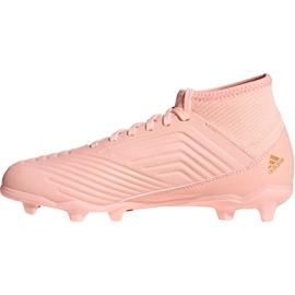 Buty piłkarskie adidas Predator 18.3 Fg Jr DB2317 różowe różowe 1