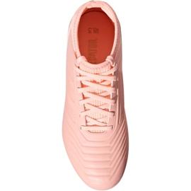 Buty piłkarskie adidas Predator 18.3 Fg Jr DB2317 różowe różowe 2