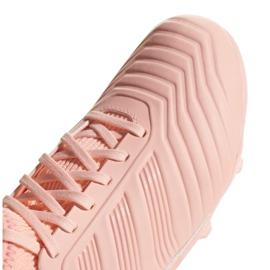 Buty piłkarskie adidas Predator 18.3 Fg Jr DB2317 różowe różowe 3