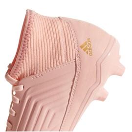 Buty piłkarskie adidas Predator 18.3 Fg Jr DB2317 różowe różowe 4
