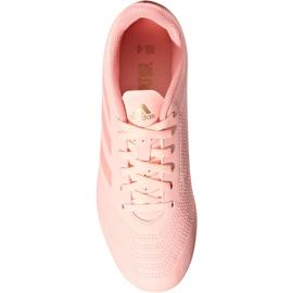 Buty piłkarskie adidas Predator 18.4 FxG Jr DB2322 różowy różowe 2