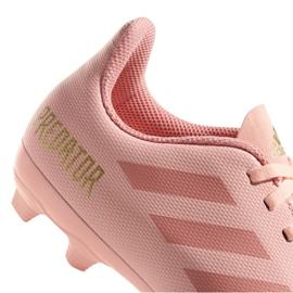 Buty piłkarskie adidas Predator 18.4 FxG Jr DB2322 różowy różowe 4