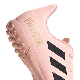 Buty piłkarskie adidas Predator Tango 18.4 Tf Jr DB2339 różowe różowy 4