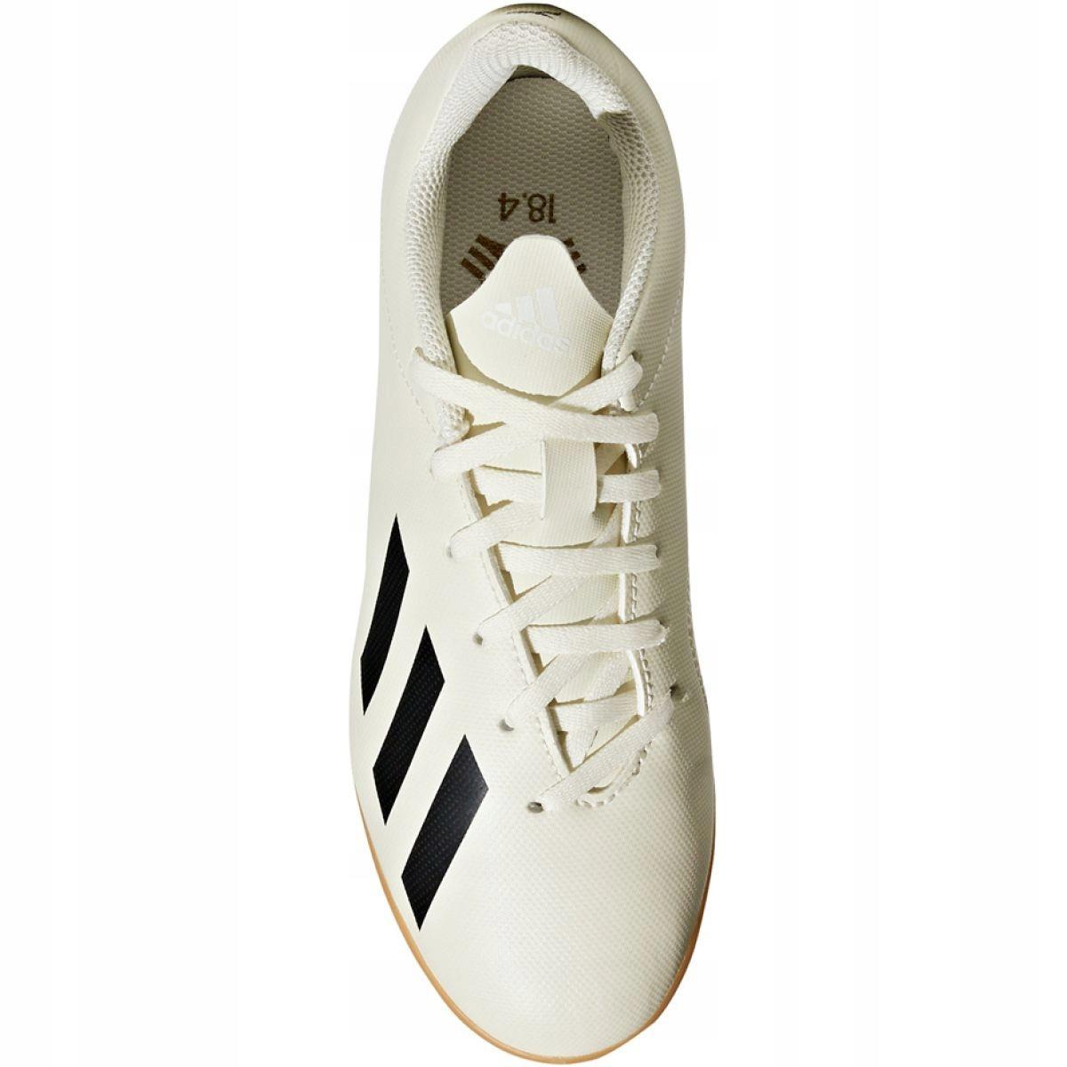 Buty halowe adidas X Tango 18.4 In Jr DB2432 białe biały