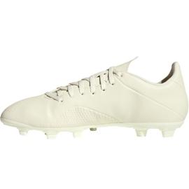 Buty piłkarskie adidas X 18.4 Fg M DB2187 beżowy białe 1