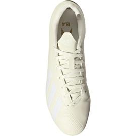 Buty piłkarskie adidas X 18.4 Fg M DB2187 beżowy białe 2