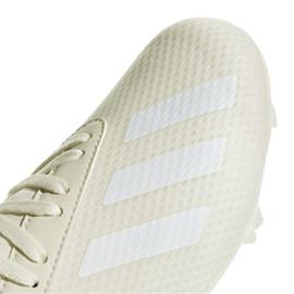 Buty piłkarskie adidas X 18.3 Fg Jr DB2417 białe wielokolorowe 3