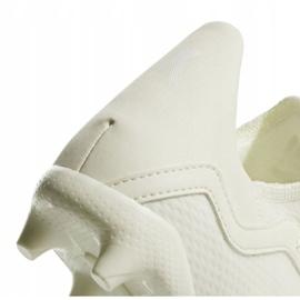 Buty piłkarskie adidas X 18.3 Fg Jr DB2417 białe wielokolorowe 4