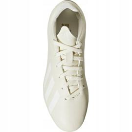 Buty piłkarskie adidas X 18.4 FxG Jr DB2421 białe białe 2