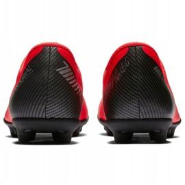 Buty piłkarskie Nike Mercurial Vapor 12 Club Gs CR7 FG/MG Jr AJ3095-600 czerwone wielokolorowe 4