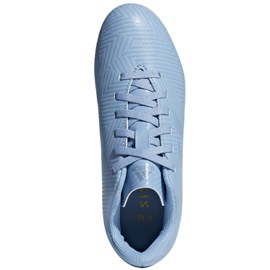 Buty piłkarskie adidas Nemeziz Messi 18.4 FxG Jr DB2368 niebieskie wielokolorowe 2