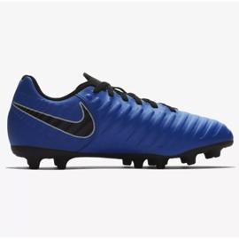 Buty piłkarskie Nike Jnr Tiempo Legend 7 Club Mg Jr AO2300-400 niebieskie wielokolorowe 1