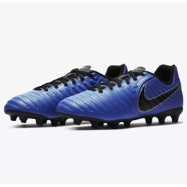 Buty piłkarskie Nike Jnr Tiempo Legend 7 Club Mg Jr AO2300-400 niebieskie wielokolorowe 4