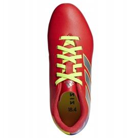 Buty piłkarskie adidas Nemeziz Messi 18.4 FxG Jr CM8630 czerwone wielokolorowe 1