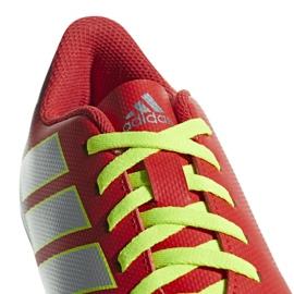 Buty piłkarskie adidas Nemeziz Messi 18.4 FxG Jr CM8630 czerwone wielokolorowe 2
