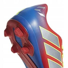 Buty piłkarskie adidas Nemeziz Messi 18.4 FxG Jr CM8630 czerwone wielokolorowe 3