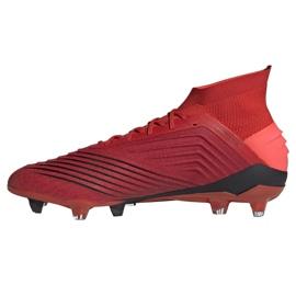 Buty piłkarskie adidas Predator 19.1 Fg M BC0552 czerwone wielokolorowe 1