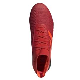 Buty piłkarskie adidas Predator 19.1 Fg M BC0552 czerwone wielokolorowe 2