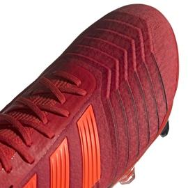 Buty piłkarskie adidas Predator 19.1 Fg M BC0552 czerwone wielokolorowe 3
