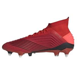 Buty piłkarskie adidas Predator 19.1 Sg M D98054 czerwone czerwone 1