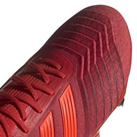 Buty piłkarskie adidas Predator 19.1 Sg M D98054 czerwone czerwone 3