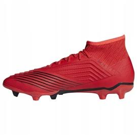Buty piłkarskie adidas Predator 19.2 Fg M D97940 czerwony czerwone 1