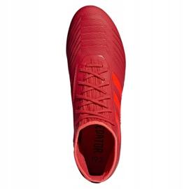 Buty piłkarskie adidas Predator 19.2 Fg M D97940 czerwony czerwone 2