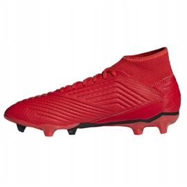 Buty piłkarskie adidas Predator 19.3 Fg M BB9334 czerwone wielokolorowe 1