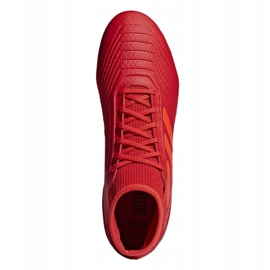 Buty piłkarskie adidas Predator 19.3 Fg M BB9334 czerwone wielokolorowe 2