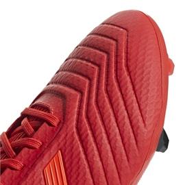 Buty piłkarskie adidas Predator 19.3 Fg M BB9334 czerwone wielokolorowe 3