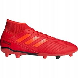 Buty piłkarskie adidas Predator 19.3 Fg M BB9334 czerwone wielokolorowe 4