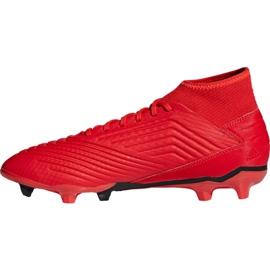 Buty piłkarskie adidas Predator 19.3 Fg M BB9334 czerwone wielokolorowe 6