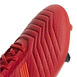 Buty piłkarskie adidas Predator 19.3 Fg M BB9334 czerwone wielokolorowe 7