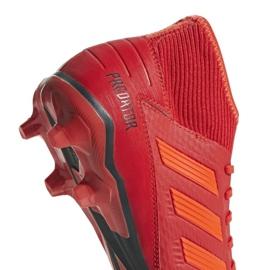 Buty piłkarskie adidas Predator 19.3 Fg M BB9334 czerwone wielokolorowe 8