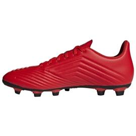 Buty piłkarskie adidas Predator 19.4 FxG M D97970 czerwone wielokolorowe 1