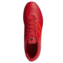 Buty piłkarskie adidas Predator 19.4 FxG M D97970 czerwone wielokolorowe 2