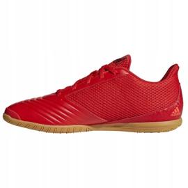 Buty halowe adidas Predator 19.4 In Sala M D97976 czerwone wielokolorowe 1