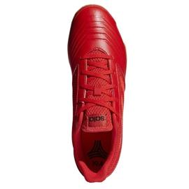Buty halowe adidas Predator 19.4 In Sala M D97976 czerwone wielokolorowe 2