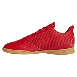 Buty halowe adidas Predator 19.4 In Sala Jr CM8552 czerwone wielokolorowe 1