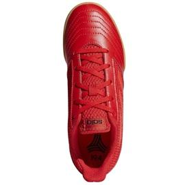 Buty halowe adidas Predator 19.4 In Sala Jr CM8552 czerwone wielokolorowe 2
